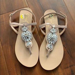 Jessica Simpson Rhinestone Flip Flop Sandal Shoe